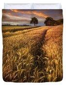 Golden Waves Of Grain Duvet Cover