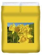 Golden Yellow Daffodil Flower Garden Art Prints Baslee Troutman Duvet Cover