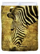Golden Zebra  Duvet Cover