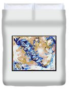 Goldenbluecollision Duvet Cover