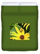 Goldenrod Soldier Beetle Duvet Cover