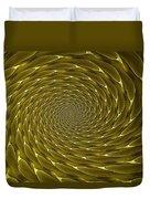 Goldenrod Vortex Duvet Cover