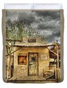 Goldfield Ghost Town - Jail  Duvet Cover