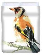 Goldfinch Bird  Duvet Cover