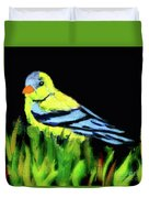 Goldfinch In The Garden Duvet Cover