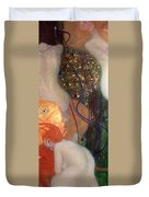 Goldfish Duvet Cover by Gustav Klimt