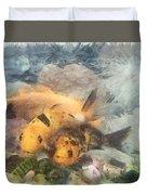 Goldfish In An Aquarium Duvet Cover