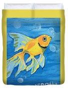 Goldfish Whisper Duvet Cover