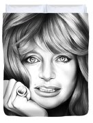 Goldie Hawn Duvet Cover