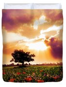 Golds At Sunset After The Rain Duvet Cover