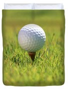 Golf Ball On Tee Duvet Cover