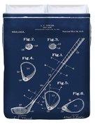 Golf Club Patent 1910 Blue Duvet Cover