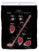 Golf Club Patent Drawing Black 2 Duvet Cover