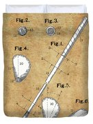 Golf Club Patent Drawing Vintage Duvet Cover
