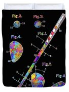 Golf Club Patent Drawing Watercolor 3 Duvet Cover
