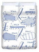 Golf Clubs Patent Drawing Duvet Cover