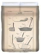 Golf Clubs Patent - Patent Drawing For The 1903 A. F. Knight Golf Clubs Duvet Cover