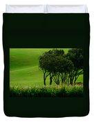 Golf Course Abstract Duvet Cover