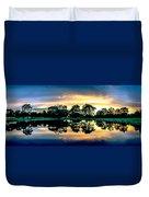 Golf Course Panorama Duvet Cover