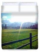 Golf Course Sun Rays Duvet Cover