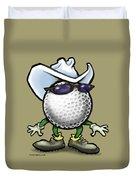 Golf Cowboy Duvet Cover