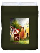 Golf In Club Fontana Austria 01 Dyptic Part 02 Duvet Cover