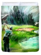 Golf In Crans Sur Sierre Switzerland 01 Duvet Cover
