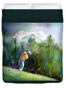 Golf In Crans Sur Sierre Switzerland 02 Duvet Cover