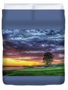 Golf Sunset Number 4 The Landing Reynolds Plantation Golf Art Duvet Cover