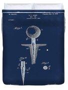 Golf Tee Patent 1899 Blue Duvet Cover