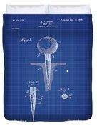 Golf Tee Patent 1899 Blueprint Duvet Cover