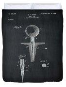 Golf Tee Patent 1899 Chalk Duvet Cover