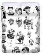 Golfers Duvet Cover