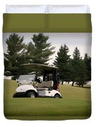 Golfing Golf Cart 01 Duvet Cover
