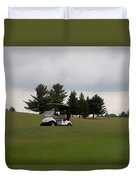 Golfing Golf Cart 02 Duvet Cover