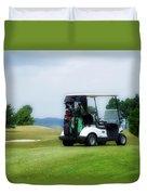 Golfing Golf Cart 03 Duvet Cover