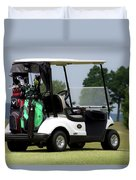 Golfing Golf Cart 05 Duvet Cover