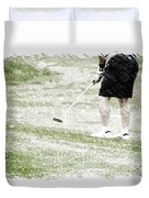 Golfing Putting The Ball 01 Pa Duvet Cover