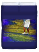 Golfing Putting The Ball 02 Pa Duvet Cover