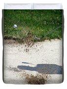 Golfing Sand Trap The Ball In Flight 01 Duvet Cover