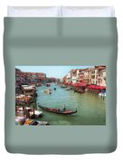 Gondola On The Grand Canal Duvet Cover