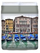 Gondolas Galore Duvet Cover