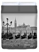 Gondolas Of San Marco Square Duvet Cover