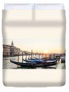 Gondolas Sunrise 00323 Duvet Cover