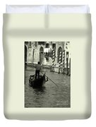 Gondolier In Venice   Duvet Cover