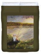 Gone Fishing Duvet Cover