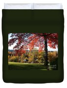 Gonzaga With Autumn Tree Canopy Duvet Cover by Carol Groenen