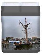 Good Friends Sailboat South Haven Duvet Cover