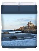 Good Harbor Beach Mansion Duvet Cover