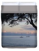 Good Morning Boats Duvet Cover
